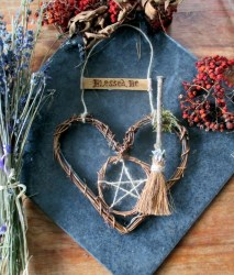 Handmade Pagan Witch Blessed Be Oak Besom & Pentacle Etsy