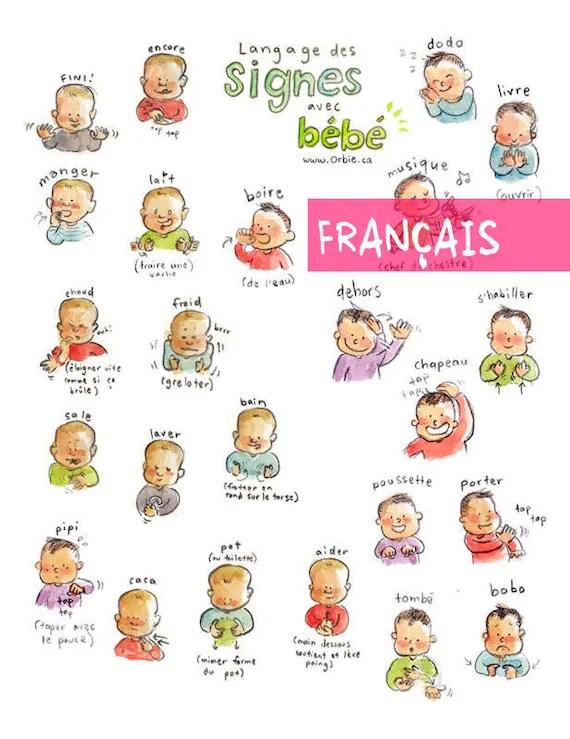 Langage Des Signes Bébé Gratuit : langage, signes, bébé, gratuit, Langage, Signes, Bébé, Affiche, Imprimable