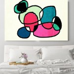 Mid Century Abstract Full Of Colors Canvas Print Midcentury