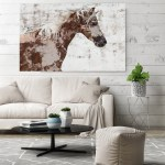 Gorgeous Brown And White Stallion Horse Painting Horse Home Decor Horse Canvas Horse Canvas Art Horse Print Horse Horse Wall Decor