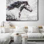 Brown Blue Majestic Horse 1 Horse Painting Horse Art Brown Rustic Horse Horse Running Horse Canvas Print Horse Painting Farmhouse Art
