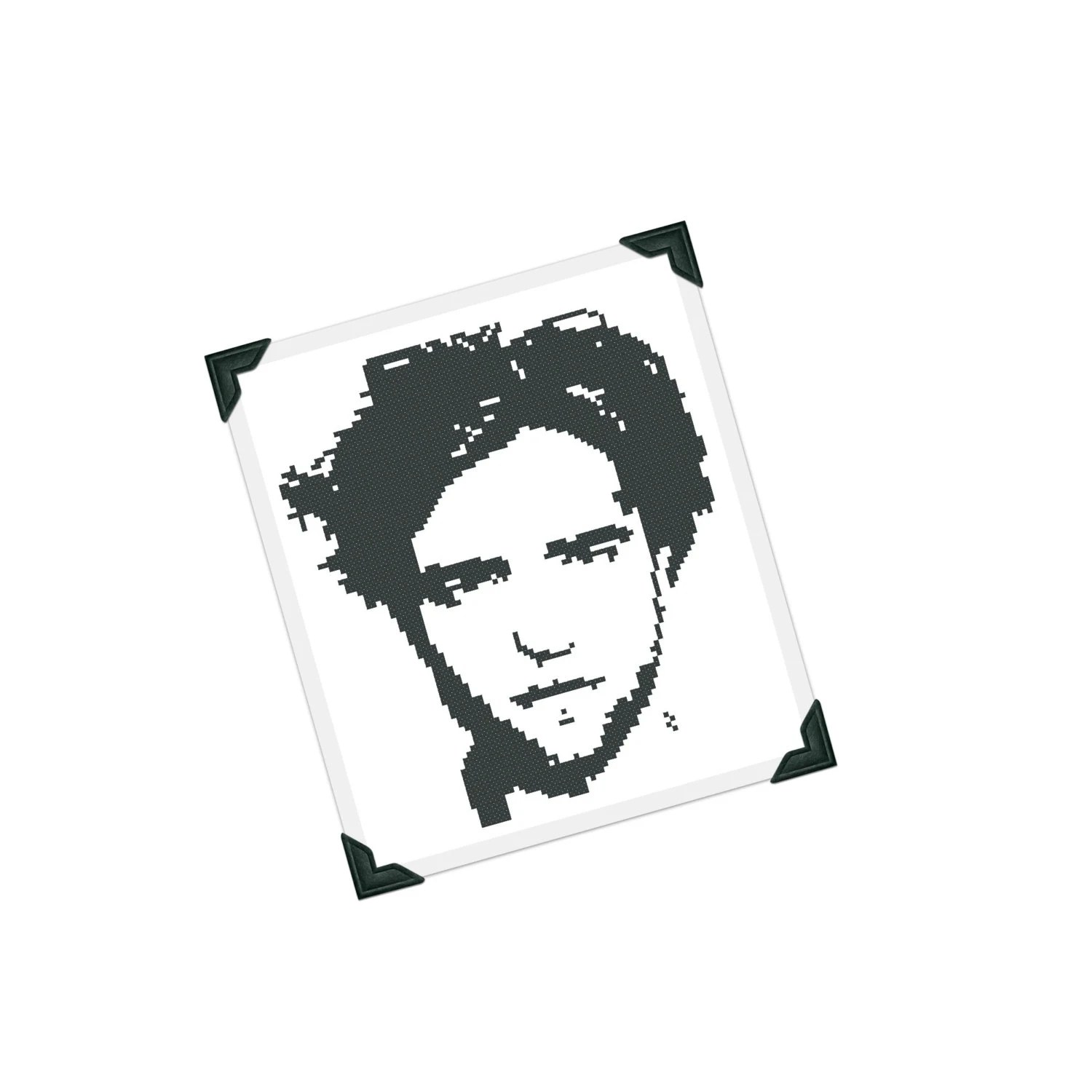 Celebrity Cross Stitch Pattern Famous Face Silhouette