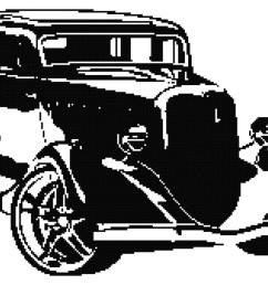 retro hot rod silhouette cross stitch pattern car cross stitch pdf antique car cross stitch pattern boys cross stitch pattern [ 1500 x 971 Pixel ]