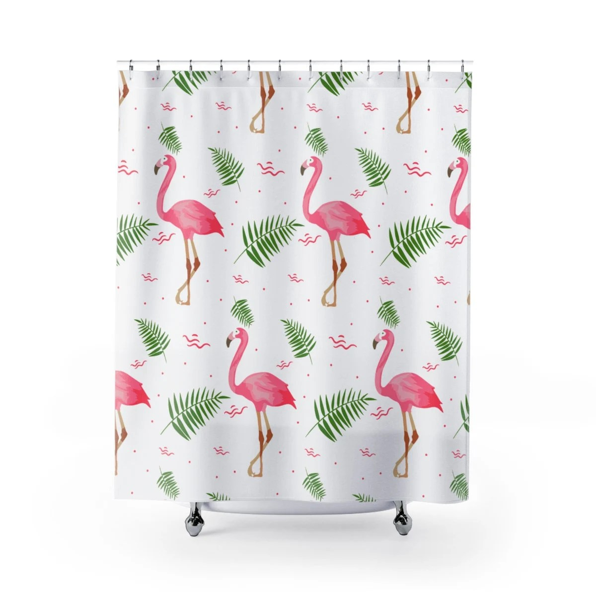 flamingo shower curtains bathroom accessories birds zoo colorful shower curtains