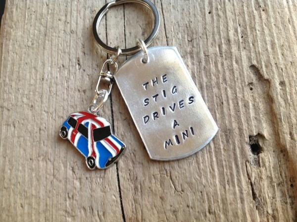 Mini Cooper Stig Keychain British Car Lover