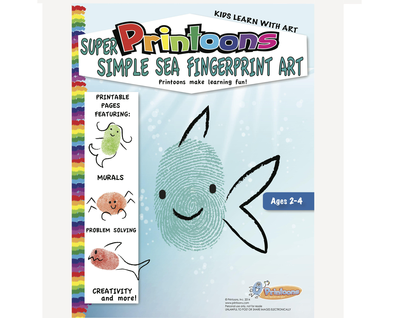 Sea Learning Thumbprint Art Under The Sea Fingerprint Art