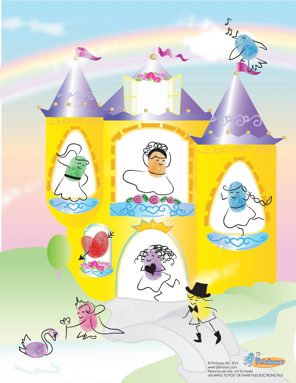Princess Thumbprint Art Princess Diy Princess Worksheets