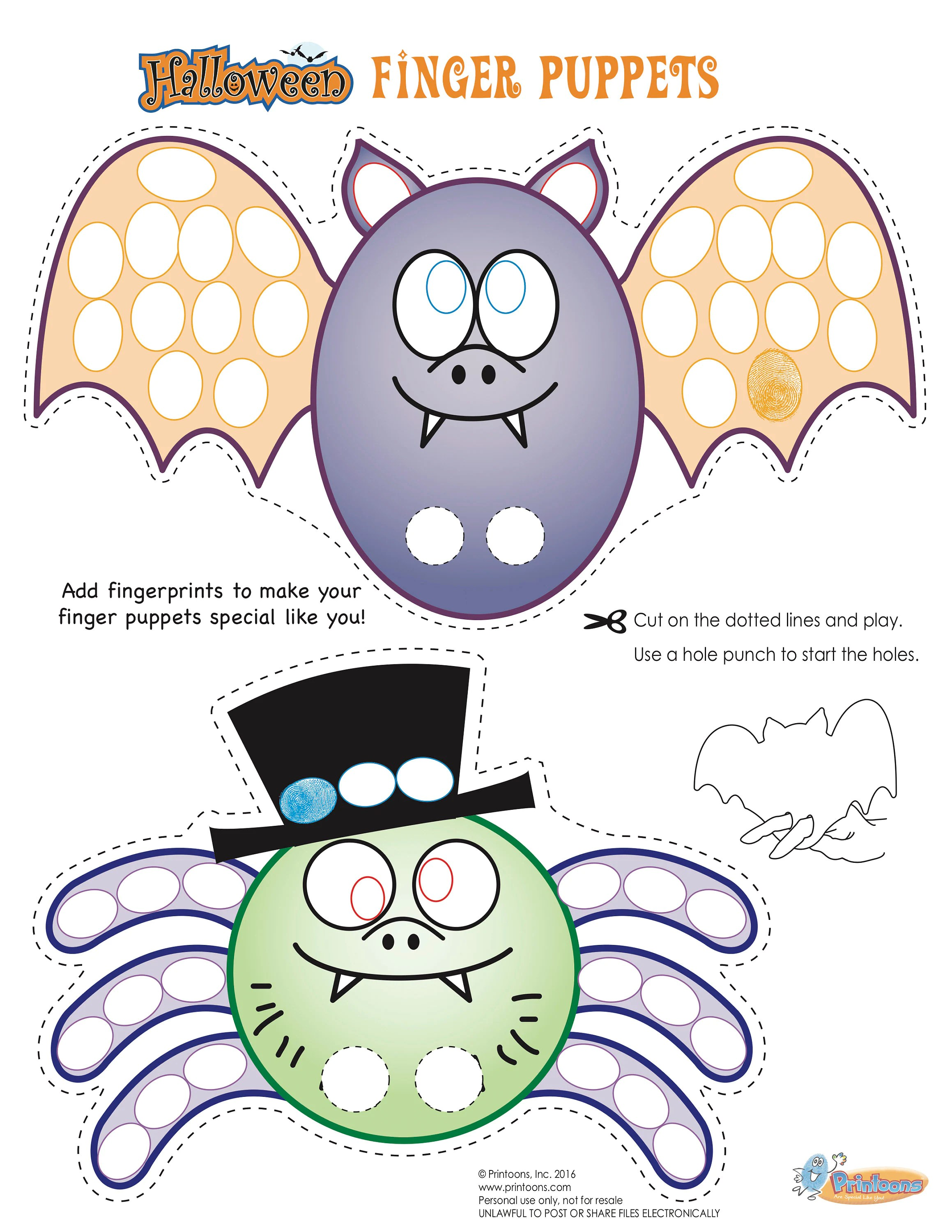 Halloween Thumbprint Art Halloween Worksheets Halloween