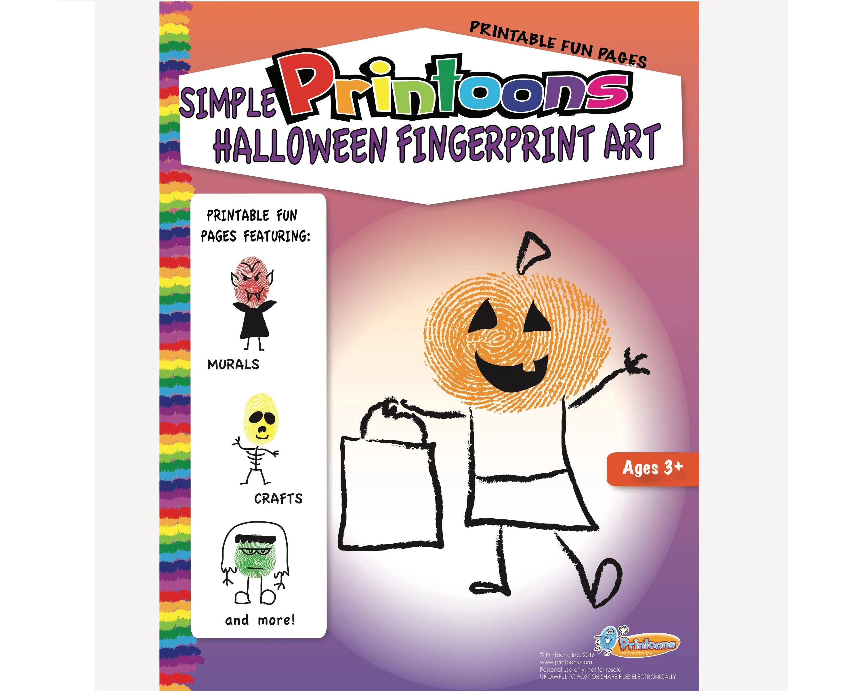 Halloween Thumbprint Art Halloween Worksheets Halloween