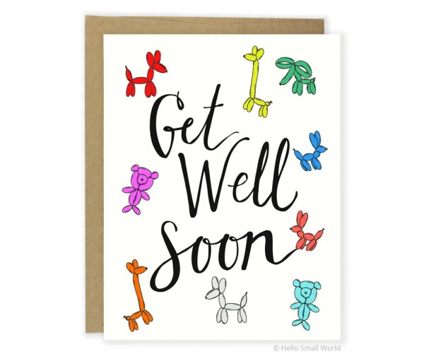 Cute Get Well Soon Card For Him For Her Get Better Soon