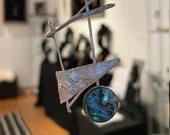 Silver Sailing Pendant with Abalone Shell