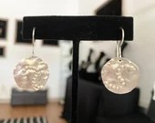 Sterling squirm disc earrings
