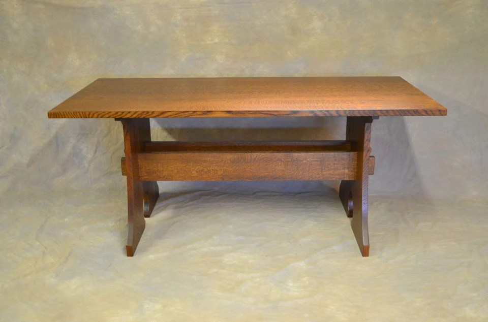 stickley sterling sofa table caracole sectional etsy arts crafts mission keyhole trestle