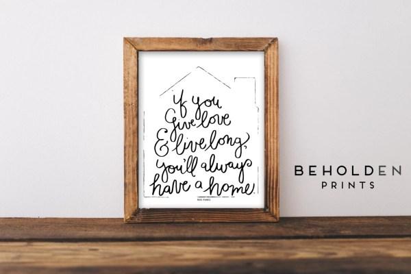 Home Decor Quote Prints Dorm Wall Art