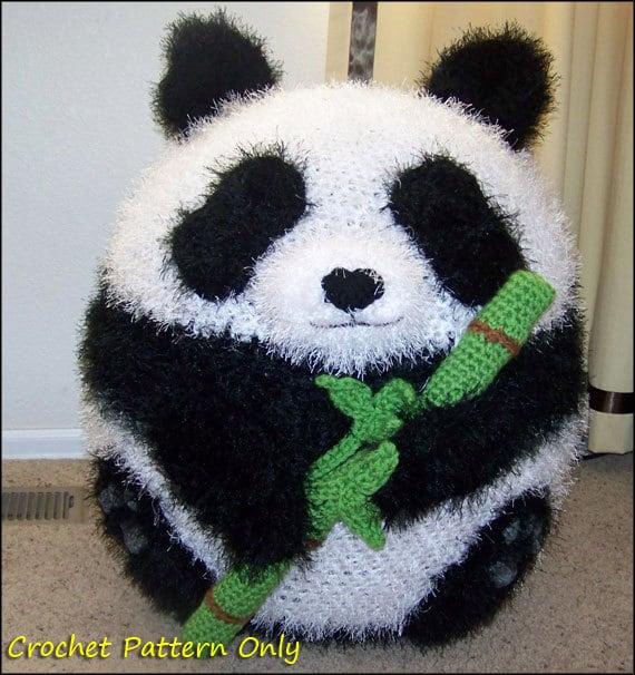 panda bean bag chair pink throne ottoman pouf crochet pattern etsy 50