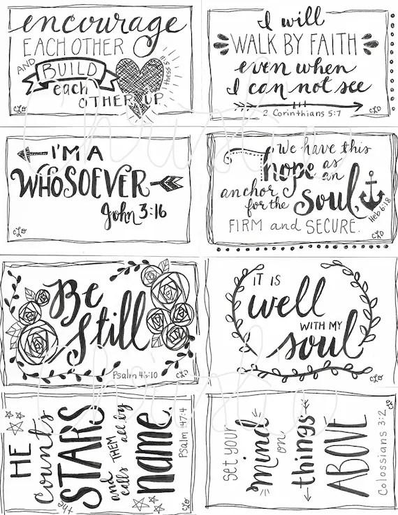 Printable Scripture cards 2 inspirational cards scripture