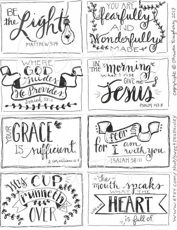 Printable Scripture cards 3 inspirational cards scripture