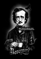 Edgar Allan Poe Victorian Gothic Art Dark Art Black and Etsy