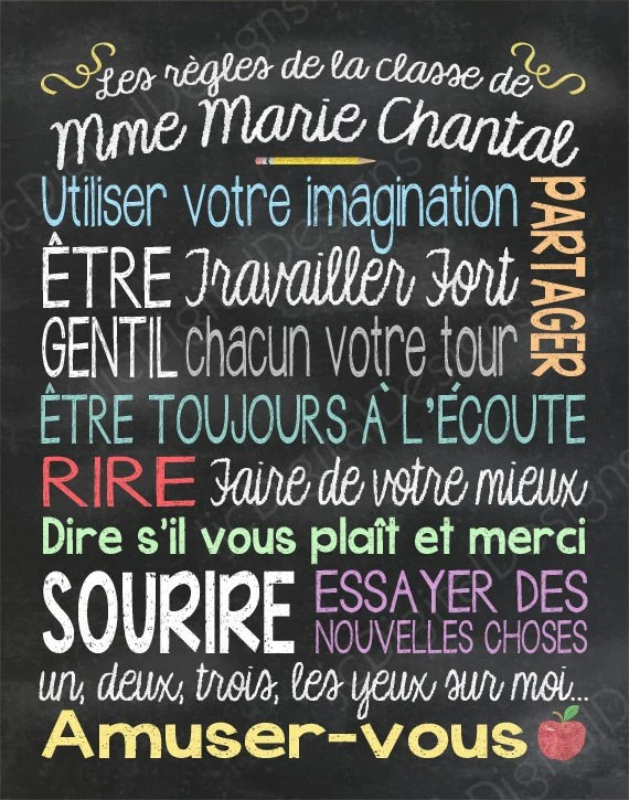 medium resolution of List Of School Rules In French - School Style