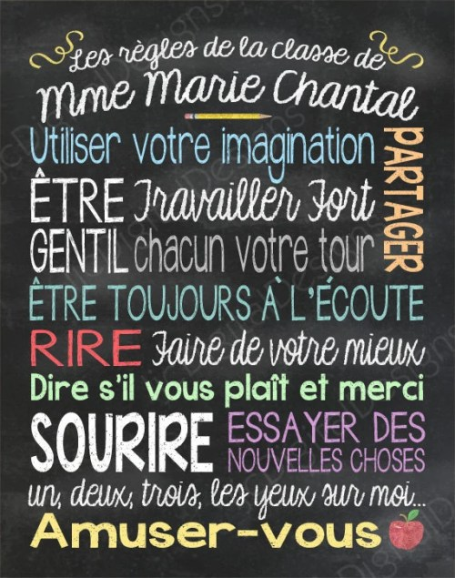 small resolution of List Of School Rules In French - School Style