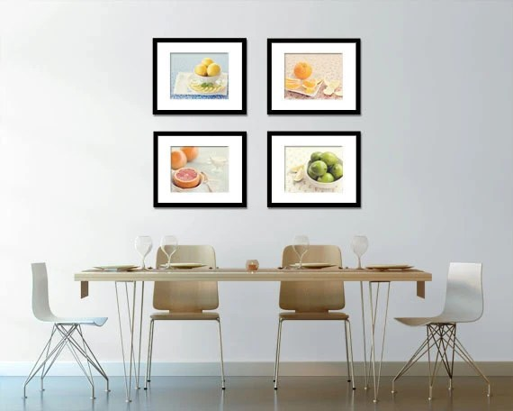 art for the kitchen tall garbage bags curated by rambling renovators on etsy food photography citrus set of four 4 fruit photos fine prints dining room decor blintonphotography