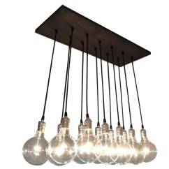 Kitchen Bulbs Storage Cabinet Urban Chic Chandelier With Exposed Lighting Etsy Modern