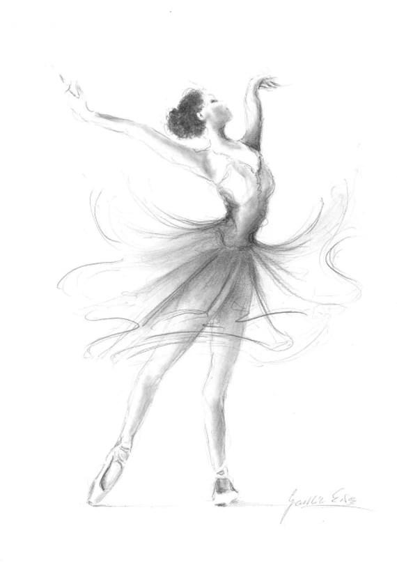 ballerina print ballerina sketch