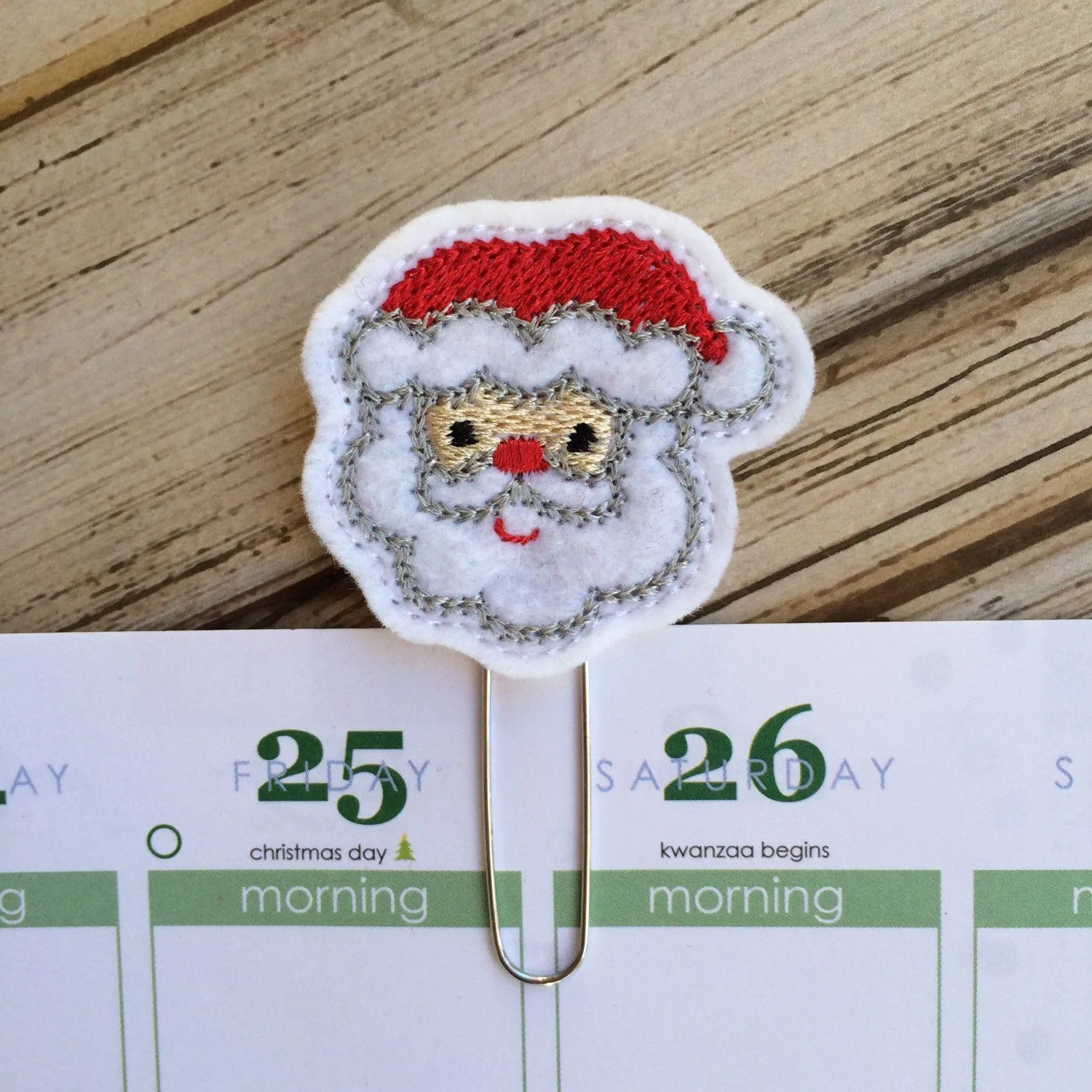 Santa Christmas T Holiday Planner Clip Christmas In