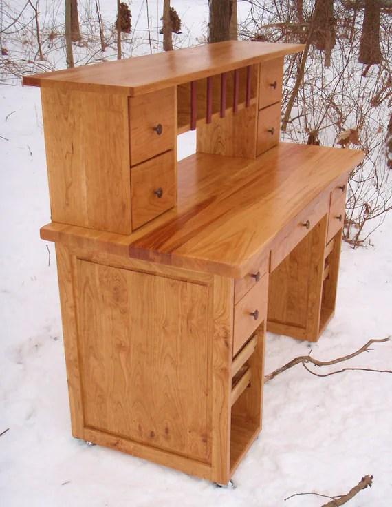 Shaker Cherry Craft Desk Etsy