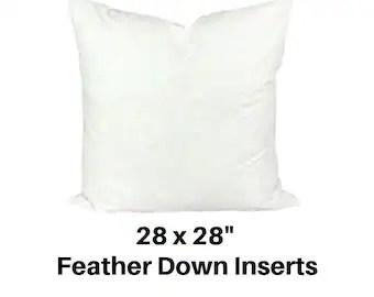 28x28 pillow insert etsy