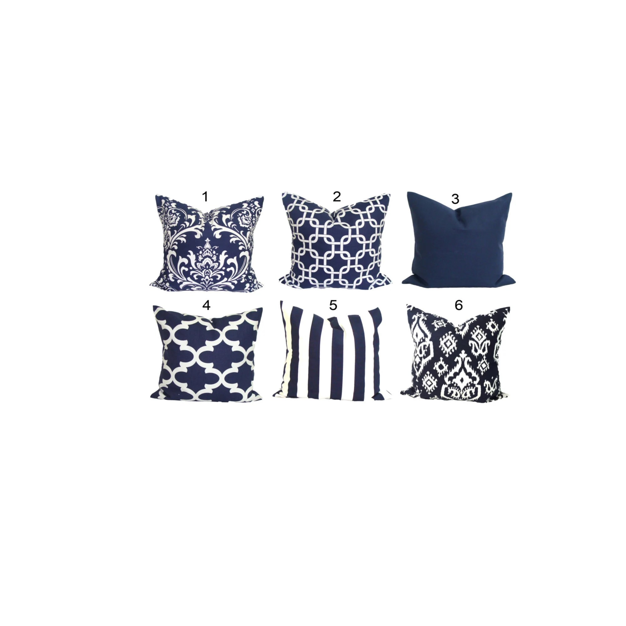 navy blue pillows pillow covers for 22x22 inch pillows blue throw pillow covers