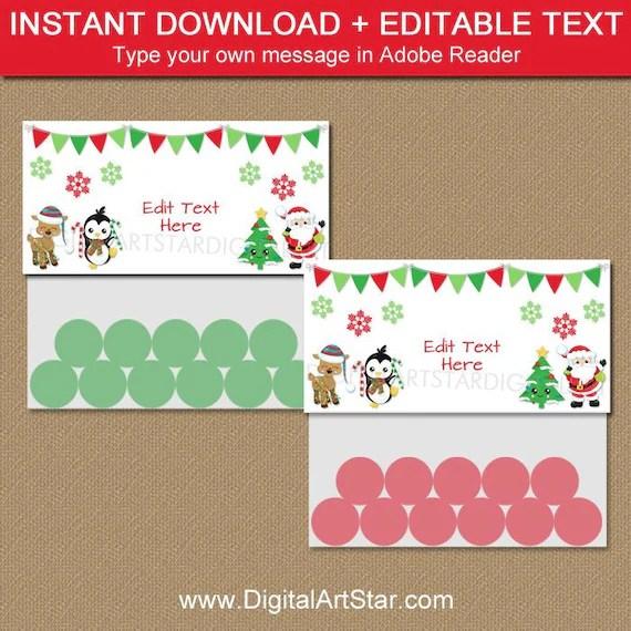 christmas bag toppers editable