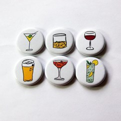 Kitchen Magnets Aid 600 Fridge Etsy Button Drink Alcohol Stocking Stuffer Wine Beer Cocktail 5868