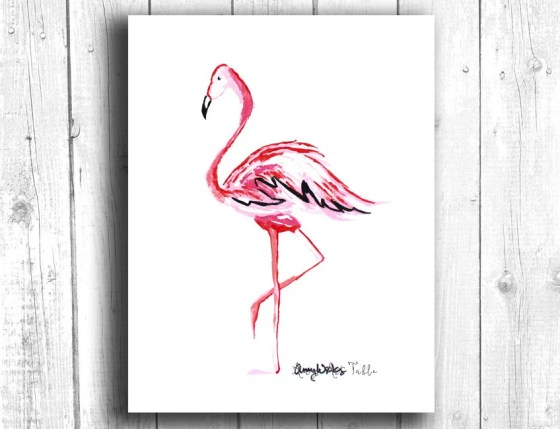 Pink Flamingo Painting, D...