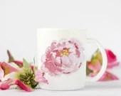 Peony Coffee Mug, Wedding...