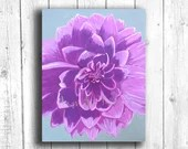 Purple Dahlia Painting Digital download, Printable original art, Digital 8x10 art printable