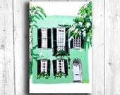 Building Print, Green Hou...