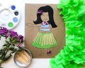 Hula Girl Mini Art Kit