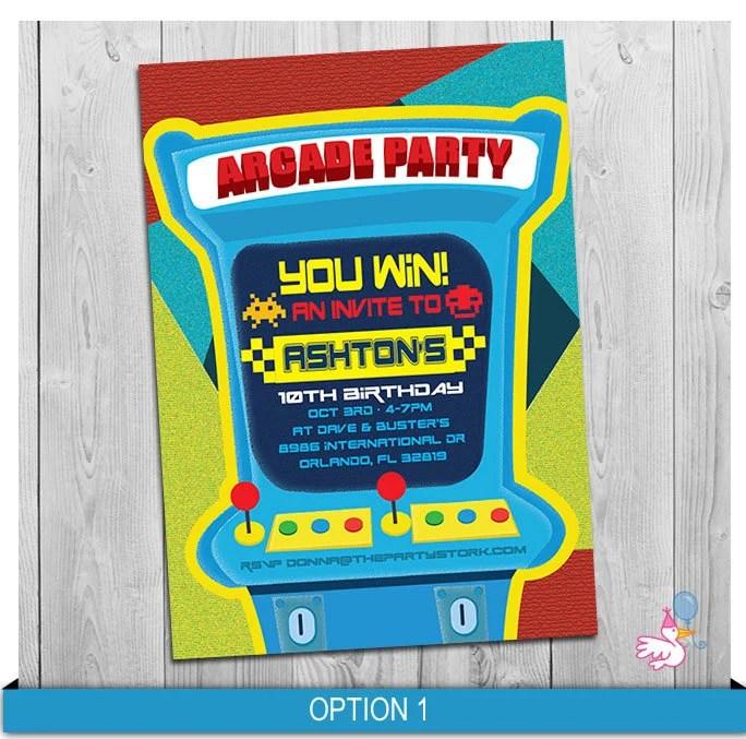 arcade invitation arcade or video game