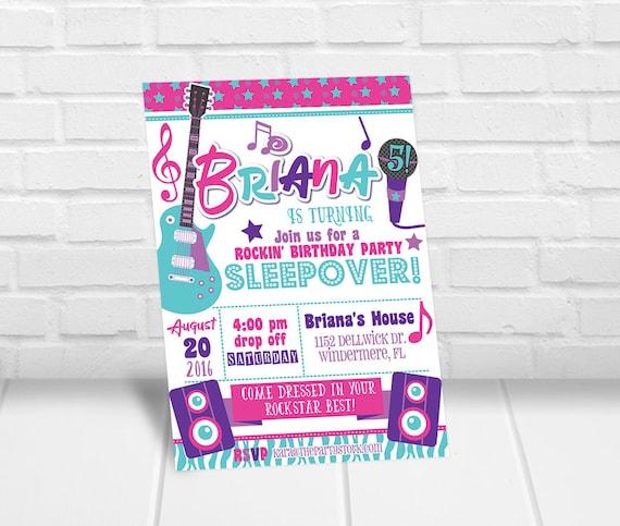 rockstar invitations rockstar invite