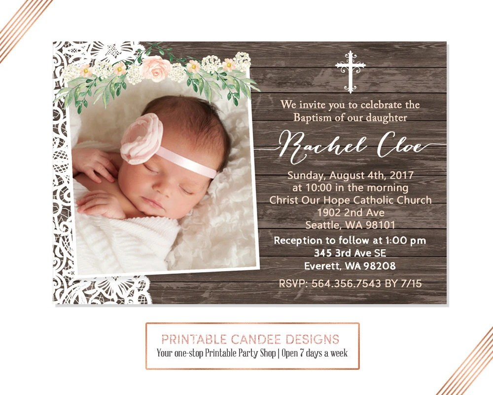 Baptism Invitations Costco