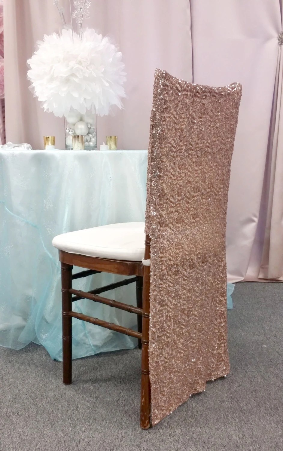 chair covers rose gold waffle bungee target full sequin chiavari cover special etsy image 0