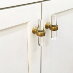 Brass Kitchen Pulls What Is The Best Faucet Lucite Cabinet Knobs Hardware Gold Drawer Etsy Image 0