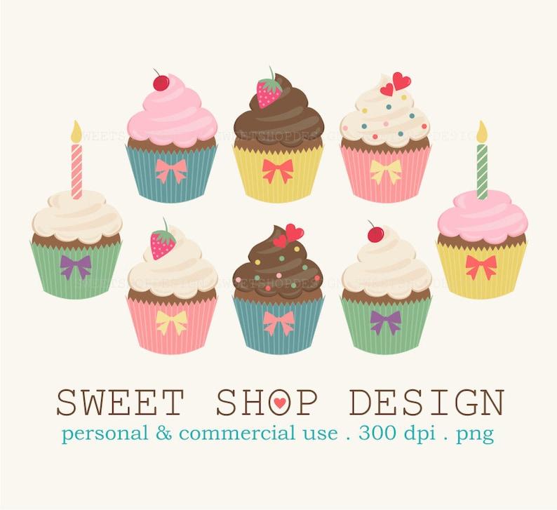 Cupcake Clip Art Food Clip Art Birthday Clip Art Royalty Etsy