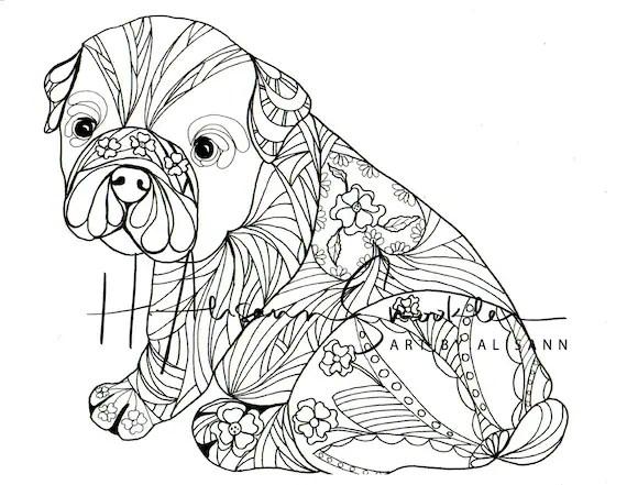 Kleurplaat Franse Bulldog • Kidkleurplaat.nl
