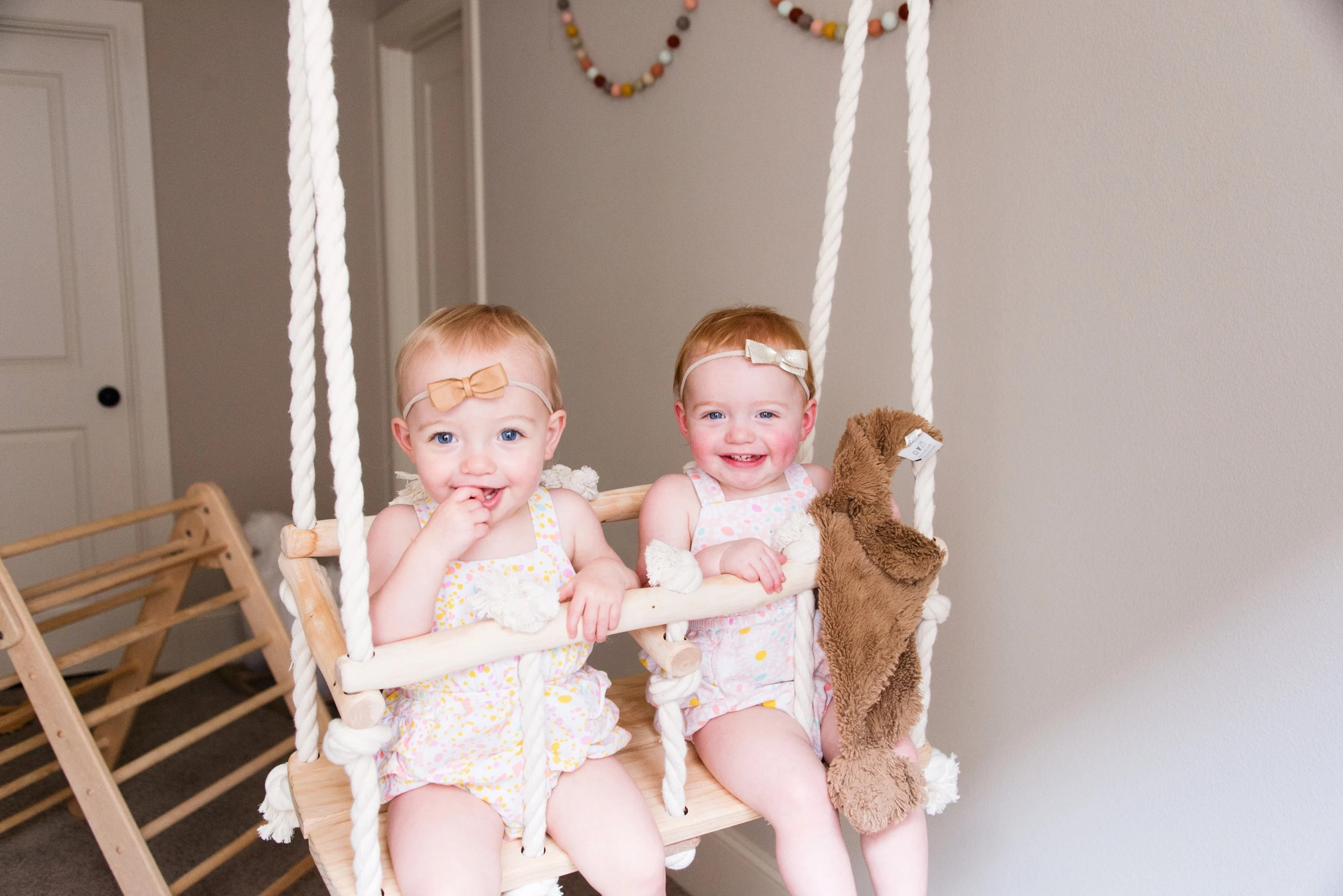 swing chair baby age diy outdoor cushions double wooden for twins indoor etsy image 0