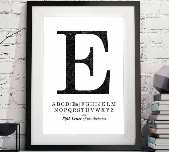 Large Letter E Printable Letter E Initial E Printable Etsy