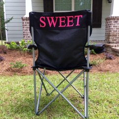 Folding Chair Embroidered Metal Side Camping Etsy Custom Chairs Monogrammed Personalized Gifts Bag