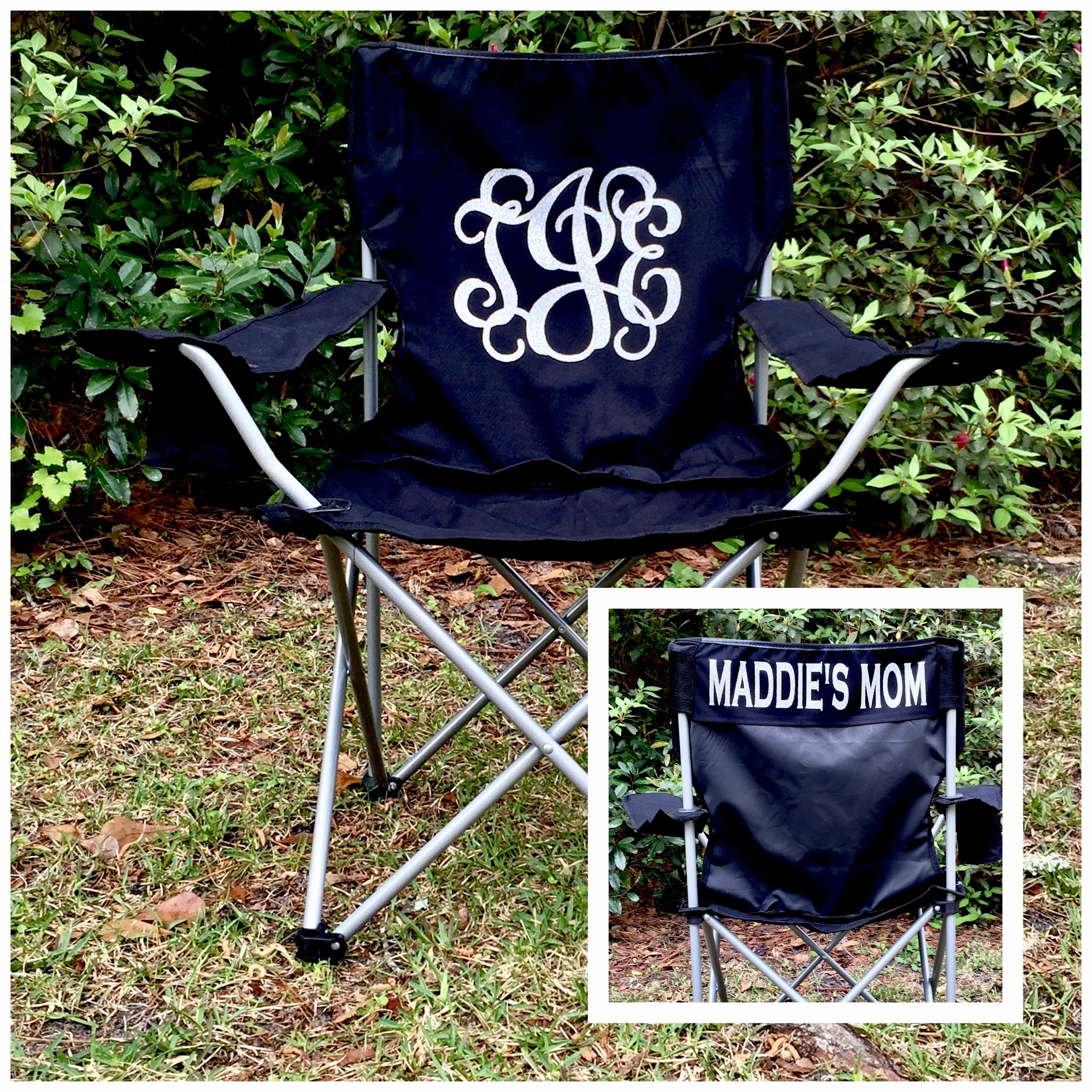 folding chair embroidered fishing floating custom monogrammed camp gallery photo