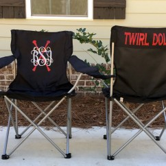 Folding Chair Embroidered Black Covers Brisbane Personalized Custom Twirl Competition Etsy Image 0
